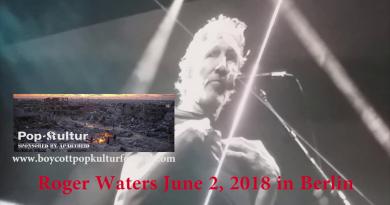 Roger Waters ruft zum Boykott von Pop-Kultur Festival auf!