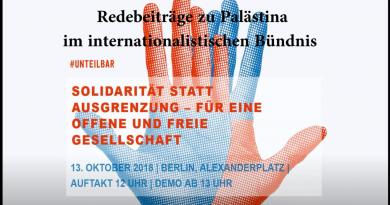 Palästina auf der #unteilbar-Demonstration am 13.10.2018 in Berlin