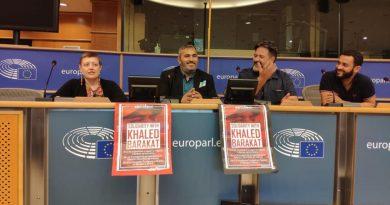 Khaled Barakat und Samidoun im Europäischen Parlament zur Verteidigung der palästinensischen Rechte