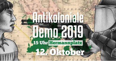 Antikoloniale Demo 2019
