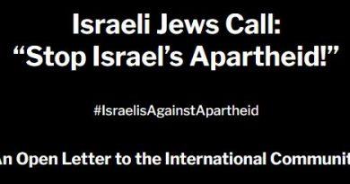 """Israelische Juden rufen auf zum: """"Stopp der israelischen Apartheid!"""""""